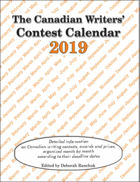 Canadian Writer's Contest Calendar 2019