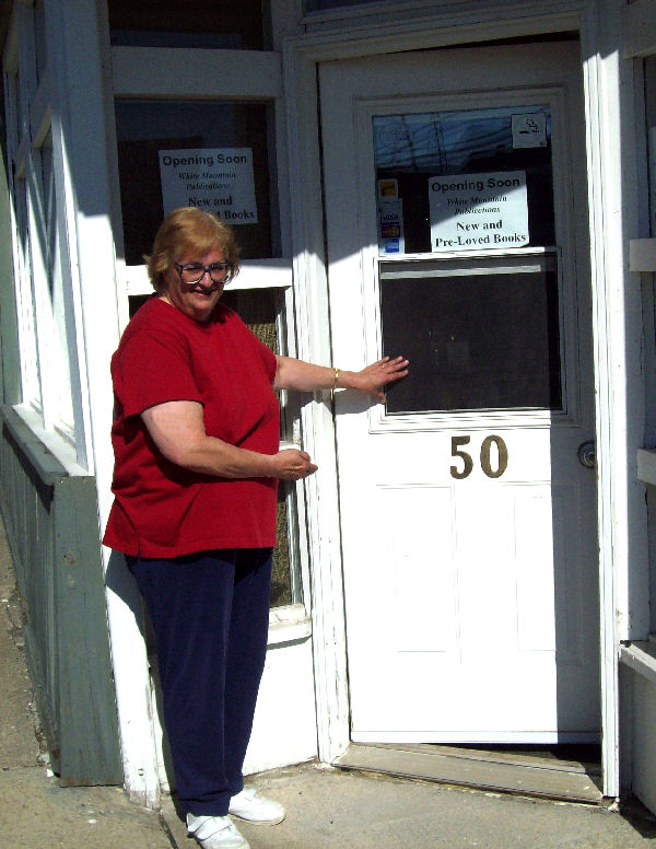 Deborah Ranchuk welcomes all to the new retail location for White Mountain Publications at 50 Silver Street, Cobalt