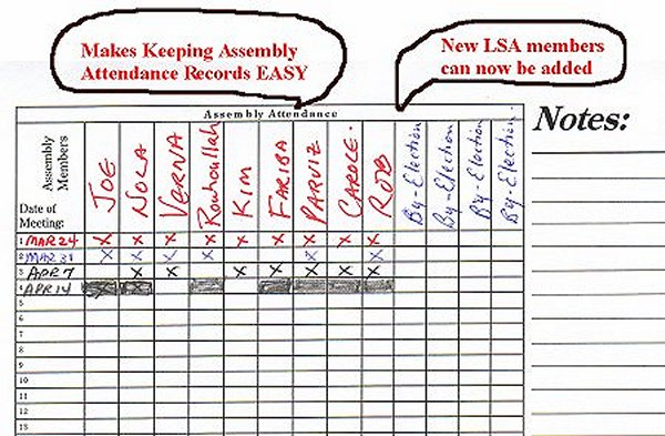 Assembly Attendance Made Easy