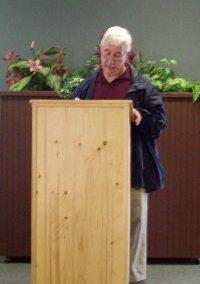 Poet Jerry Jordison of New Liskeard