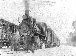 First train into Elk Lake 1913