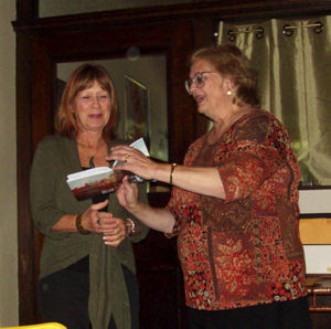 Linda-Bea Chambers (our second prize winner) with Deborah Ranchuk