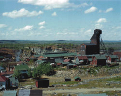 Creighton Mine 1953 photo ©by Rolf Staude