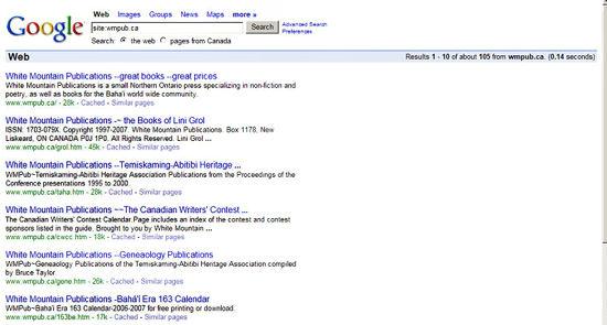 How it looks on Google