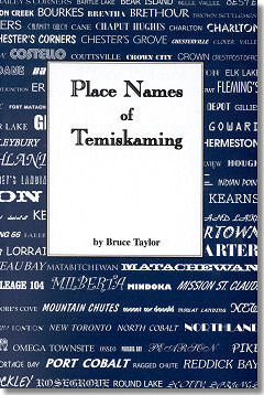 Cover for Place Names of Temiskaming