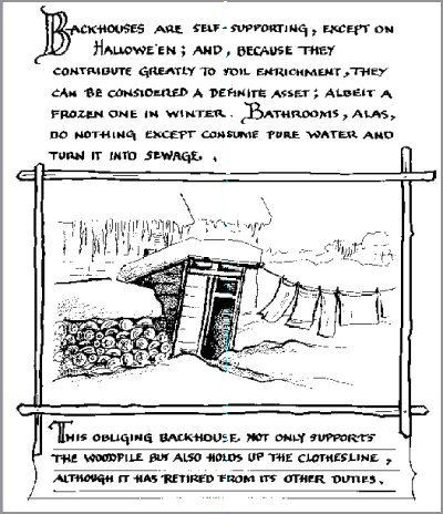 A sample page from Backhouses of the North