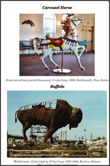 Carousel Horse and the famous Earlton buffalo