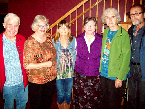 Left to Right Jerry Jordison, Deborah Ranchuk, Linda-Bea Chambers, Heather Hunting, Emma Laughlin, Don Bennett